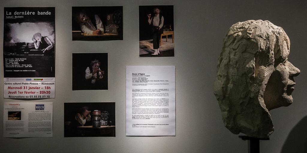 """Côtoyant l'expo photo, l'exposition """"Sons d'Age"""" par la Compagnie Les Oreilles et la queue"""